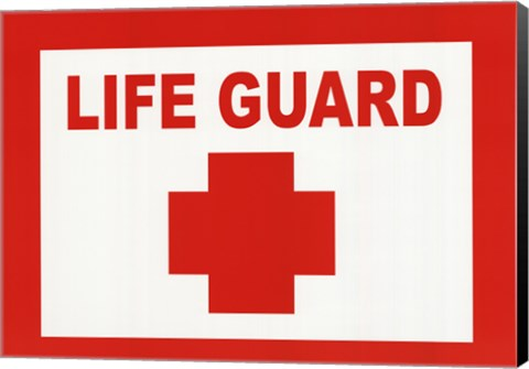 Framed Sign - Life Guard Print