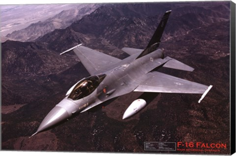 Framed Airplane F-16 Falcon Print