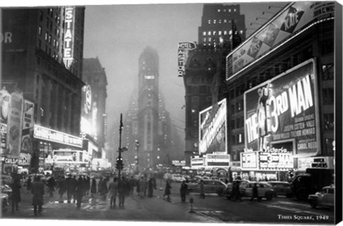 Times Square 1949 Fine Art Print By Unknown At