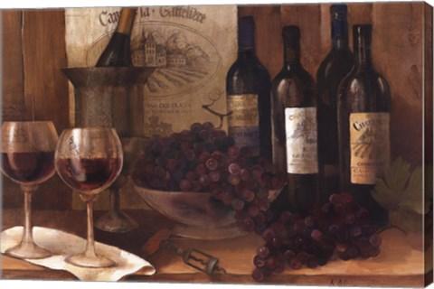 Vintage Wine Fine Art Print By Albena Hristova At