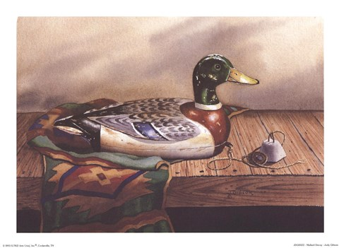 Framed Mallard Decoy Print