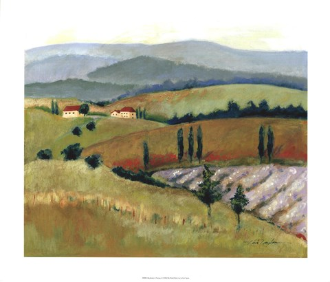 Framed Daydreams in Tuscany II Print