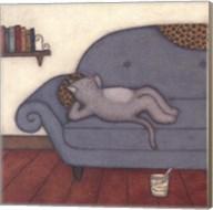Lounging Cat Fine-Art Print