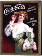 Coca-Cola Lady in Green Dress Fine-Art Print