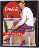 Coca-Cola Lady in Purple Fine-Art Print