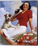 Coca-Cola Lady with Dog Fine-Art Print