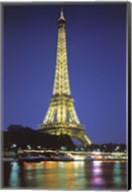 Paris At Night Wall Poster