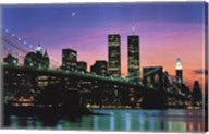New York at Night Wall Poster