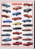 Ferrari Model History Fine-Art Print