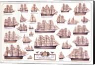 Merchant Sailing Ships Wall Poster