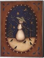 Snowman with Crows Fine-Art Print
