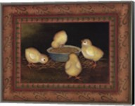 Chicks with Seed Fine-Art Print