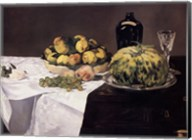 Still Life with Melons and Peaches Fine-Art Print