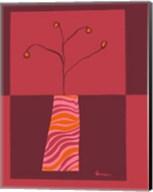 Minimalist Flowers in Orange I Fine-Art Print