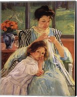 Young Mother Sewing Fine-Art Print