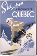 Ski Fun La Province de Quebec, 1948 Fine-Art Print