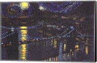 Starry Night over Brooklyn Bridge Fine-Art Print