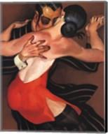 Femme au Robe Rouge Fine-Art Print