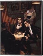 Cigar, Cognac in the Salon Fine-Art Print