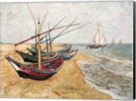 Fishing Boats on the Beach, Saintes-Maries-De-La-Mer, c.1888 Fine-Art Print