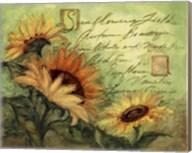 Sunflowers On Green Fine-Art Print