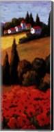 Tuscan Poppies Panel II Fine-Art Print