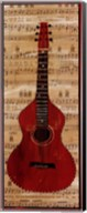 Red Check Guitar Fine-Art Print