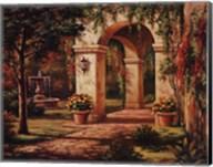 Arch Courtyard I Fine-Art Print