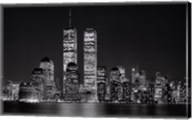 New York, New York, Manhattan at Night Fine-Art Print