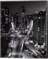 New York, New York, Flatiron Building at Night Fine-Art Print
