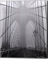 Foggy Day on Brooklyn Bridge Fine-Art Print