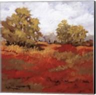 Scarlet Fields I Fine-Art Print