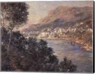 Monte Carlo Vue De Cap Martin Fine-Art Print