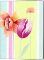 Flowers & Stripes II Fine-Art Print