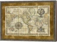 Antique World Map Fine-Art Print