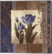 Blue Tulip Scroll Fine-Art Print
