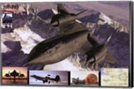 Airplane Blackbird Sr-71 Wall Poster