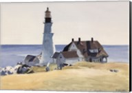 Lighthouse and Buildings, Portland Head, Cape Elizabeth, Maine, 1927 Fine-Art Print