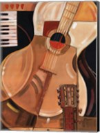 Abstract Guitar - Mini Fine-Art Print