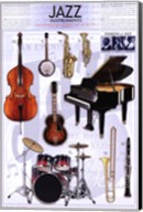 Jazz Instruments Wall Poster