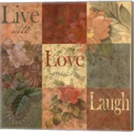 Shabby Chic 9 patchLive Laugh Love Fine-Art Print