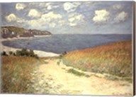 Chemin dans les bles a Pourville, 1882 Fine-Art Print
