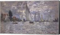 Les Barques, Regates a Argenteuil Fine-Art Print