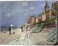 Beach at Trouville, c.1870 Fine-Art Print