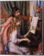 Two Young Girls at the Piano Fine-Art Print