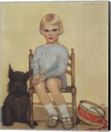 Boy with Dog Fine-Art Print