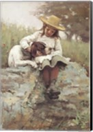 Girl with the Dog Fine-Art Print