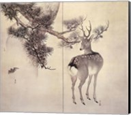 Deer Pine Bat Fine-Art Print