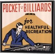 Pocket Billiards for Healthful Recreation Fine-Art Print