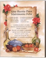 Happy Marriage Recipe (Spanish) Fine-Art Print
